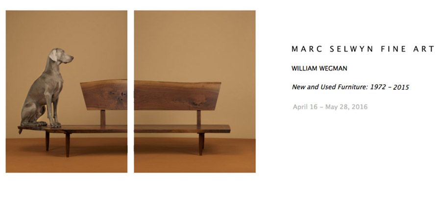 William Wegman New and Used Furniture